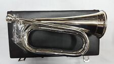 New Professional Army Bb Bugle Silver Plated Tune able/Military Bb Bugle Silver