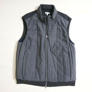 Peter Millar Mens Crown Elite Light Hybrid Vest Jacket Sz XL Grey Wool MF19S73