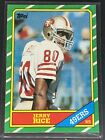 1986 Topps Jerry Rice San Francisco 49ers #161 Football Card MINT 0027 CENTERED