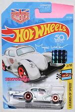 Hot Wheels 2018 Legends Of Speed Volkswagen Kafer Racer White Factory Sealed