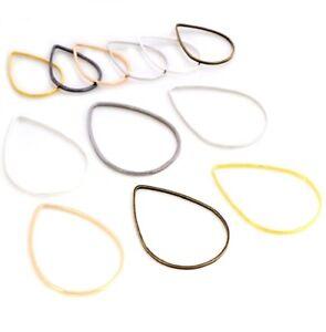 Tear Drop Earring Findings Drop Ring Wire Jewellery Making Fittings Frame DIY UK