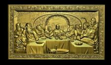 CNC Processing Art Last Supper Panel in Brass