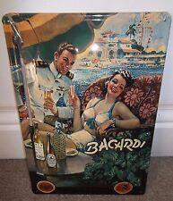 BACARDI CUBAN RUM (SAILOR) :EMBOSSED(3D) METAL ADVERTISING SIGN 30X20cm, CUBA