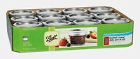 12 BALL Mason Regular Mouth Canning Quilted Jelly Jars 4oz w/ Lids & Bands NEW!!