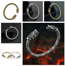 Armband Fenris Silber Viking Wolf Armreif Wikinger Armspange Mittelalterschmuck