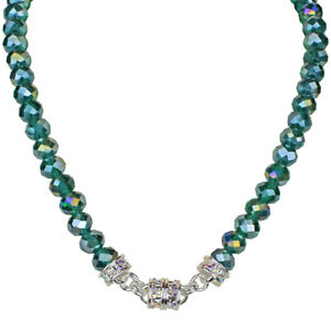 KIRKS FOLLY MERMAID AZURE 10MM BEADED MAGNETIC INTERCHANGEABLE NECKLACE ST