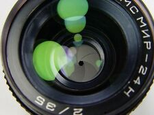 Full frame lens MC MIR 24 N f/2 35 mm Nikon bayonet. s/n 871007.