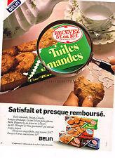 PUBLICITE   1978   BELIN  biscuits tuiles d'amandes