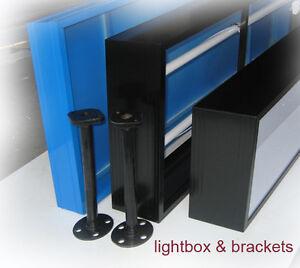 Shop Light box, Awning LightBox,1800x300x150mm, 1row= 2lights, 2 acrylics,BLK