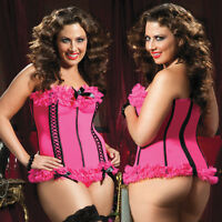 Plus Size Lingerie One Size 1/2X or One Size 3/4X Bustier and Thong  STM9383X
