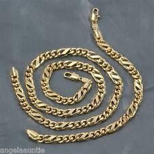 18K Yellow Gold Filled Figaro Necklace/Bracelet Set (S-147)