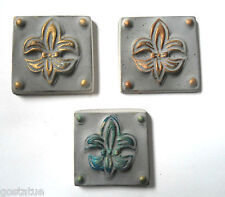 "3 plastic mini tile molds plaster cement molds 1.75"" x 1.75"" x 1/3"""