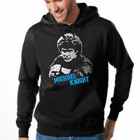 Michael Knight KITT Rider David Hasselhoff Retro Kult 80s Kapuzenpullover Hoodie