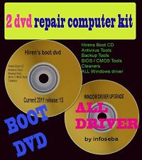 REPAIR /RECOVERY/PASSWORD/DRIVERS/COMPUTER KIT 2 DVD