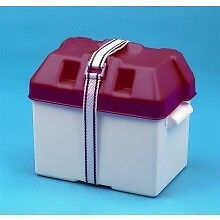 WAVELINE BATTERY BOX RED 190MM X 270MM X 200MM BOAT YACHT RIB