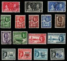 Somaliland KG6 & QE2 selection of 16 to 1r green & Shs1/30 mint & used.