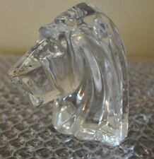 BACCARAT LION Head Crystal Sculpture Paperweight France J.G. DURAND VTG RARE