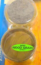 """Shepherd Hardware #9362 - Caster cups Felt Bottom - Wood grain -2 3/8"""" - 1 - 4 p"""