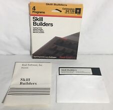SKILL BUILDERS Commodore 64 Educational Software In Box TESTED & WORKING