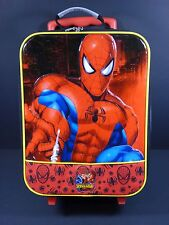 Marvel Spider-Man Rolling Suitcase Kids Travel Luggage VGUC