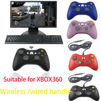 2.4G  wired/ Wireless Game Controller Gamepad Joystick Joypad for Xbox Xmas Gift