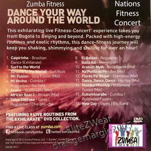 Zumba Nations Fitness DVD High Energy Live Class - 16 Routines 70 Minute Workout