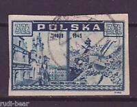 Polen Nr.  415 gest.  Warschau klagt an - vor und nach der Zerstörung 2 WK   -3