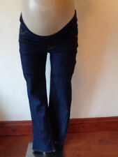 DENIM & CO MATERNITY INDIGO BLUE UNDER BUMP BOOTCUT JEANS SIZE 8
