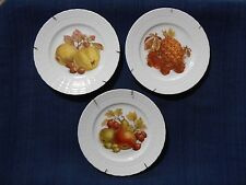 Hutschenreuther Germany Fruit & Nut Decorative Collectable Plates Lot of 3