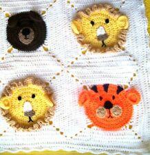 Handmade Crochet Jungle Nursery or Pram Blanket