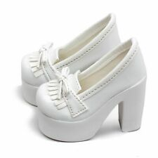 [PF] 55# White 1/4 MSD DOD BJD Dollfie High Heel Synthetic Leather Shoes