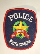 Greer South Carolina Police Shoulder Iron On Patch - Star Illustration