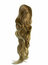 Thick Pony Tail Wrap on Ponytail Clip in As Human Hair Extensions light Brown