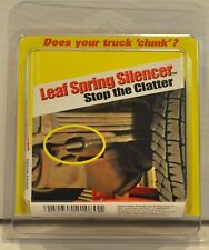 SPECIALTY PRODUCTS 21080 4-pc Set of Universal Leaf Spring Silencers NEW IN PKG