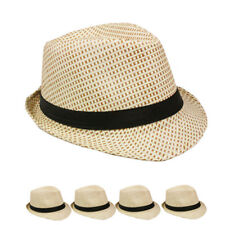 Fedora Hat Wedding Dress Formal CREAM CAP RED BLACK MEN HAT US SELLER WOMEN