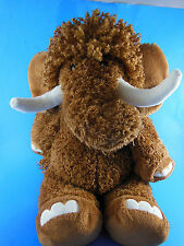 "Hallmark Rare HTF Plush Brown Elephant with tusks Soft 15"" Woolly Mammoth??"