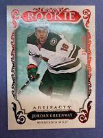 2018-19 Upper Deck Artifacts Rookie Ruby #168 Jordan Greenway 331/399 Wild RC