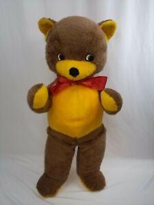 "The Rushton Company Atlanta GA Jumbo 36"" Brown Yellow Vintage Stuffed Teddy Bear"