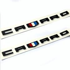 2pcs OEM CAMARO Emblem 3D Decal Badge GM RS SS ZL1 F Black Red Redline Style