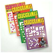 2 x Libros de entretenimiento CRUCIGRAMAS 66 paginas