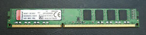 Kingston KVR1333D3N9/8G 8GB DDR3, Low Profile, 1333MHz (PC10600), Refurbished
