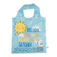Naughty Gull Reusable Shopping Bag With Pouch Sun Beach Seaside Nautical