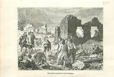 Les Petits Prophètes protestants les Cévennes au XVIIe siècle GRAVURE 1883