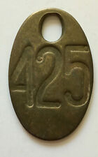 Vintage Brass COW TAG #425 Double sided