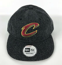 Cleveland Cavaliers Baseball Snapback Hat New Era Gray Tweed Adjustable Red Logo