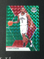 Kawhi Leonard 2019-20 Panini Mosaic Green SP Prizm Holo Refractor #78 Clippers