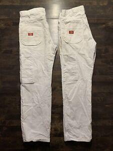 Vintage White Dickies Work Pants 34x30 (2 Pairs)
