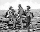 Three Confederate Prisoners Battle of Gettysburg 8'x 10' Civil War CSA Photo 122