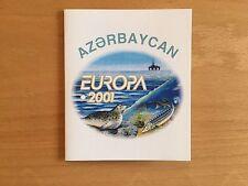 MH Aserbaidschan  **  Fische  Europa  2001, postfrisch, Markenheft