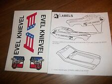 """Evel"" STUNT CAR STICKERS"